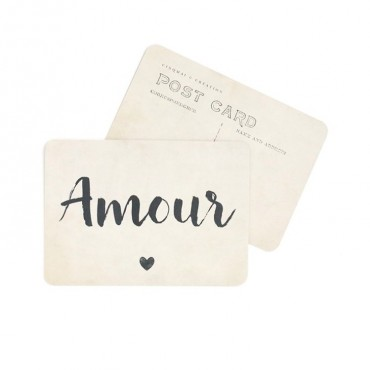 Carte Amour (Jane) - Vintage paper