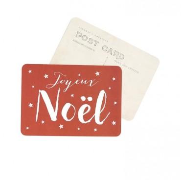 Carte Joyeux Noël (Jane) - Argile rouge