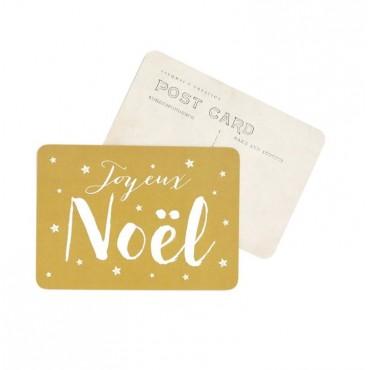 Carte Joyeux Noël (Jane) - Vieil or