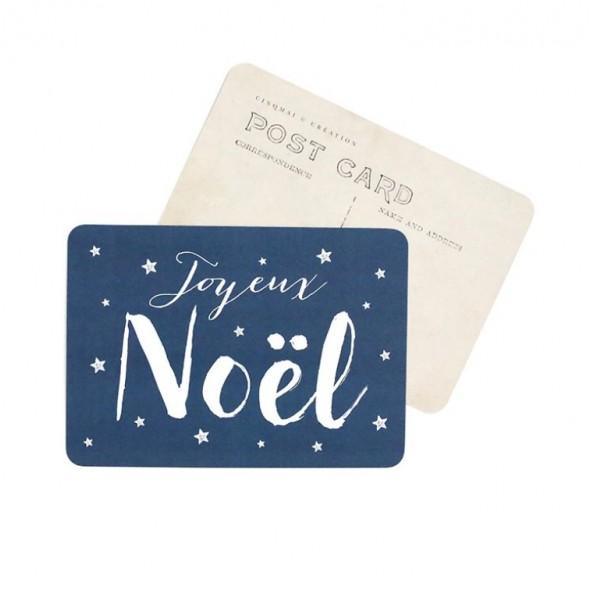 Carte Joyeux Noël (Jane) - Bleu nuit