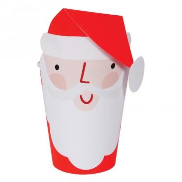 8 gobelets en carton - Père Noël