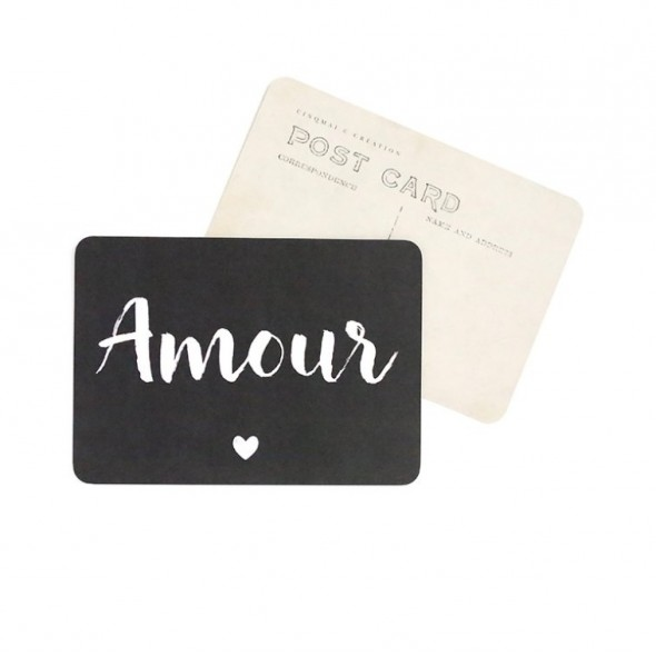 Carte Amour (Jane) - Ardoise