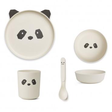 Set de vaisselle en bambou - Panda