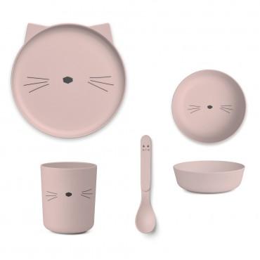 Set de vaisselle en bambou - Cat