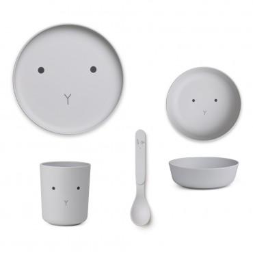 Set de vaisselle en bambou - Rabbit