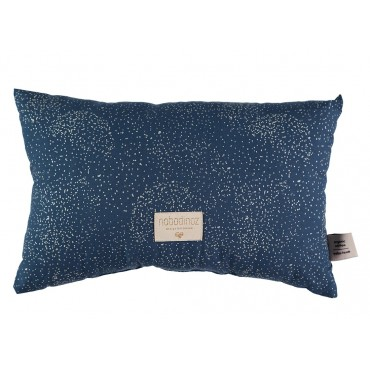 Petit coussin Laurel - Gold bubble / Night blue