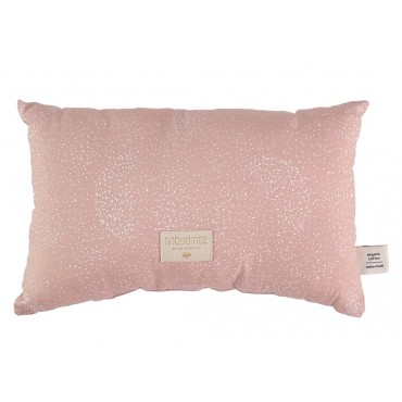 Petit coussin Laurel - White bubble / Misty pink