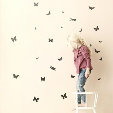 Sticker Mini Butterflies - Noir