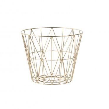 Panier de rangement Wire Basket - Doré (S)