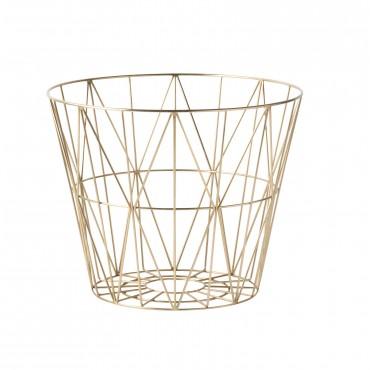 Panier de rangement Wire Basket - Doré (M)