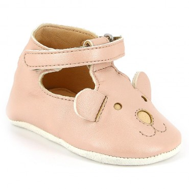 Chaussons Loulou Ted - Rose