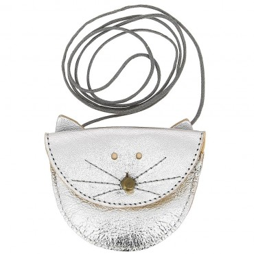 Collier Chat - Argent