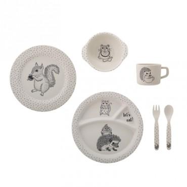 Set de vaisselle en bambou Alex - Naturel