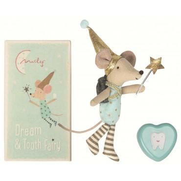 Petite souris fée des dents avec sa boite en métal (boy)