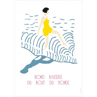 Affiche Bons Baisers - Baigneuse