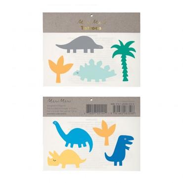 2 planches de tatouages éphémères - Dinosaure