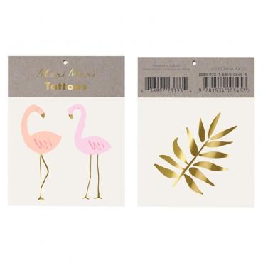 2 planches de tatouages éphémères - Flamingo