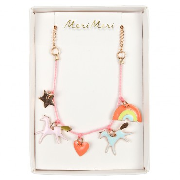Collier enfant - Charms verni licorne
