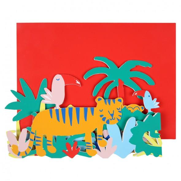 Carte anniversaire - Jungle