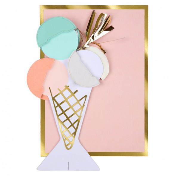 Carte anniversaire - Crème glacée
