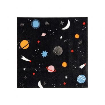 16 petites serviettes en papier - Espace