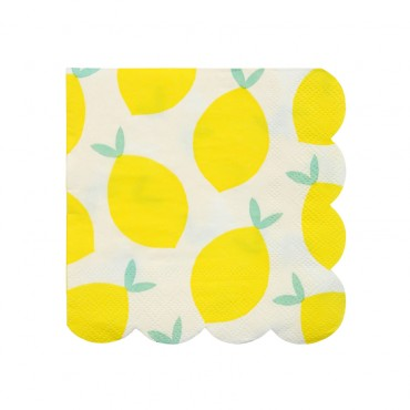 20 petites serviettes en papier - Citrons