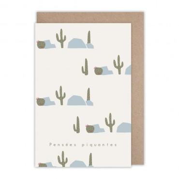 Cartes Pensées piquantes - Cactus