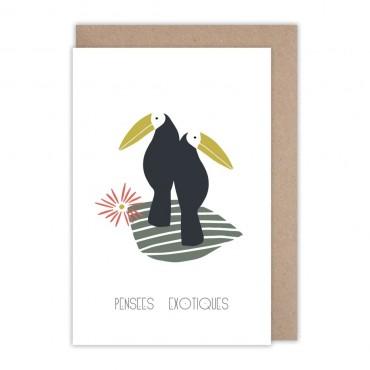 Cartes Pensées exotiques - Toucans