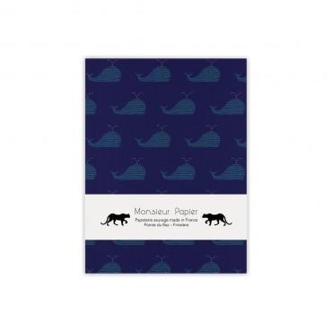 Petit carnet - Baleine bleue
