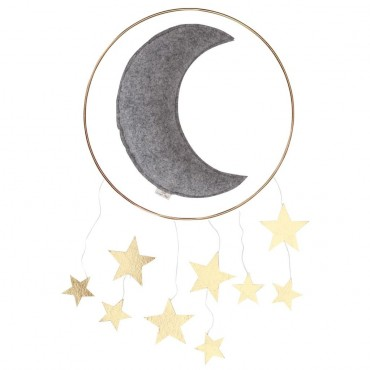 Mobile Lune - Gris / Or
