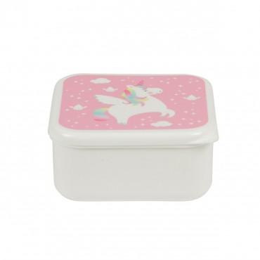 Lunch box carrée - Rainbow Unicorn