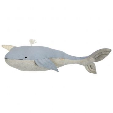 Grande baleine tricotée