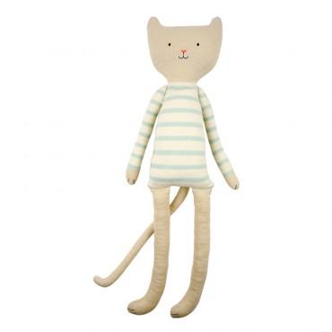 Grand chat tricoté