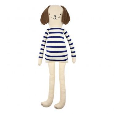 Grand chien tricoté