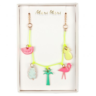 Collier enfant - Charms verni tropical
