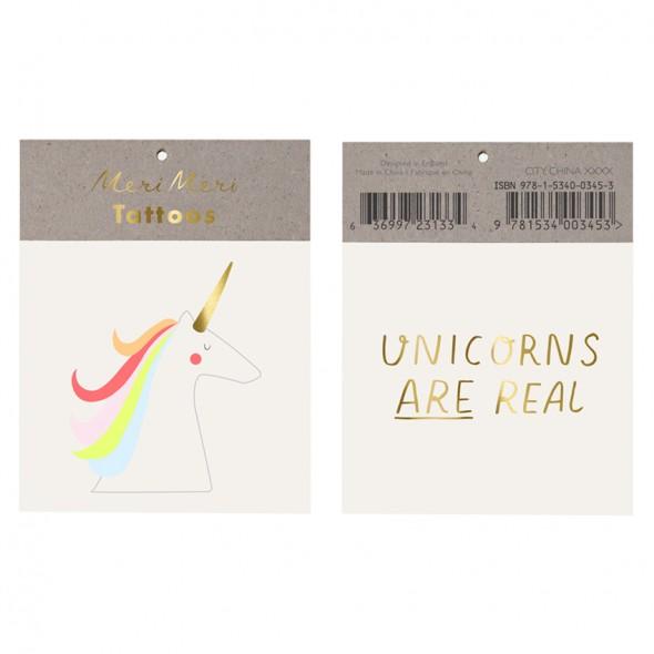 2 planches de tatouages éphémères - Unicorns are real