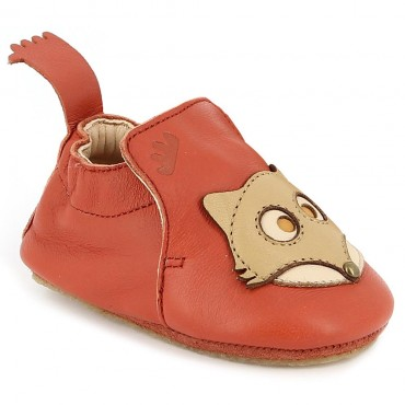 Chaussons Blublu Fox - Brique / Biscuit