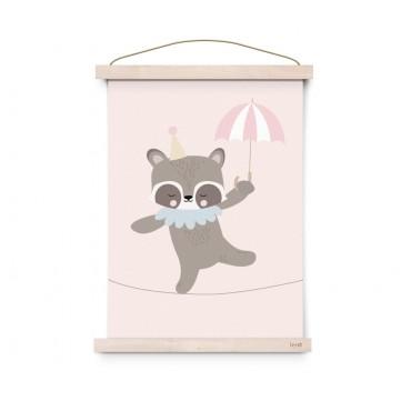 Affiche Circus - Raccoon Dancer