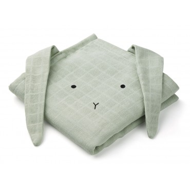 Set de 2 langes Hannah - Rabbit (mint)