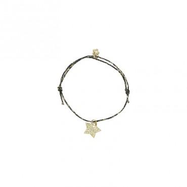 Bracelet Star - Etoile (noir)