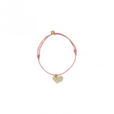 Bracelet Star - Cœur (rose)