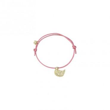 Bracelet Animal - Chat doré (rose)