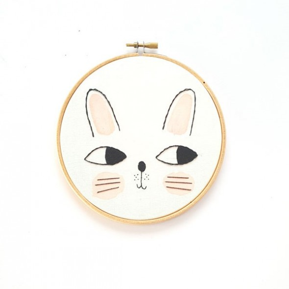 Broderie décorative - Lapin