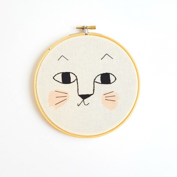 Broderie décorative - Chat