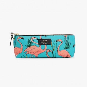 Trousse à crayons - Pink Flamingos
