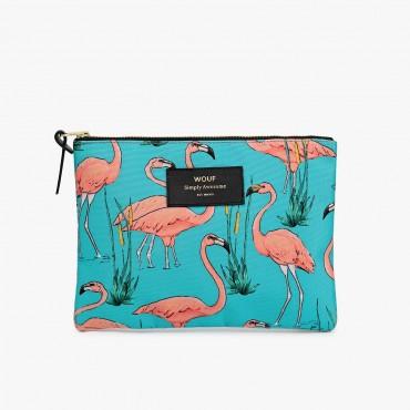 Grande pochette - Pink Flamingos