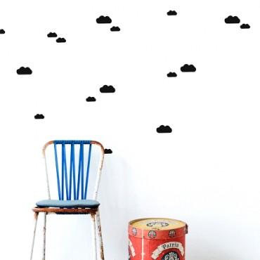 Sticker Mini Clouds - Noir