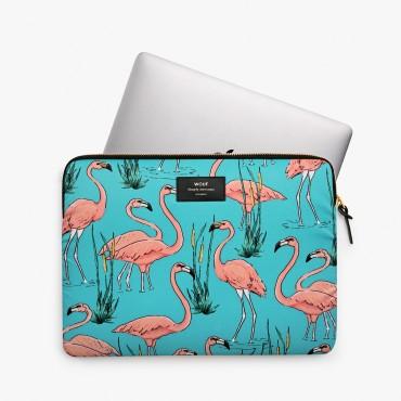 """Housse d'ordinateur 13"""" - Pink Flamingos"""