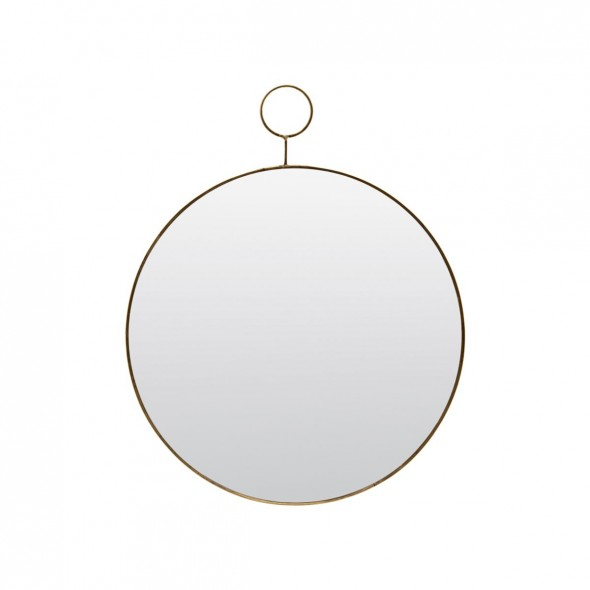 Miroir Loop - Laiton (Grand Modèle)