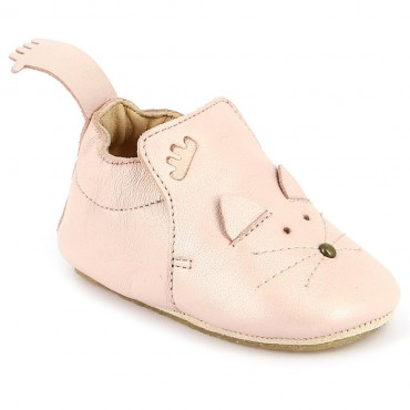 Chaussons Blublu Chat - Rose